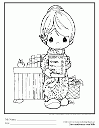 coloring pages precious moments a report card from