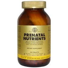 solgar prenatal nutrients multivitamin u0026 mineral 240 tablets