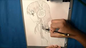 drawing sketch anime 2 youtube