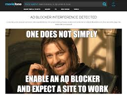 Blockers Dvd Looks Like Moviefone Does Not Like Ad Blockers Lotrmemes