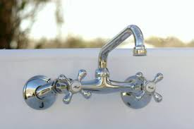 Kingston Brass Wall Mount Kitchen Faucet Antique Brass Wall Mount Kitchen Faucet Cross Handle Adj Center
