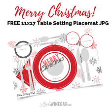 table setting placemat free christmas table setting placemat 11x17 winegar