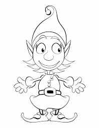 printable elf girl elf coloring pages getcoloringpages com
