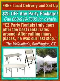 local party rentals party rentals southington ct ez party rentals