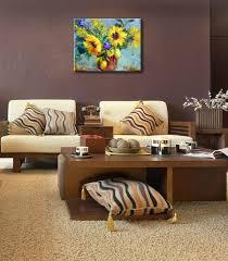 pittura sala da pranzo olio di girasole pittura design moderno per sala da pranzo