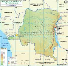 angola physical map physical map of democratic republic of the congo dr congo