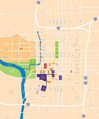 Downtown Houston Map This Large Map Of Downtown Indianapolis May Take A Moment To Load