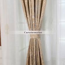 and shabby chic window curtains in beige for bedrooms