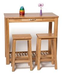 Oak Breakfast Bar Table Camberley Oak Breakfast Bar Table In Light Oak Finish With Two