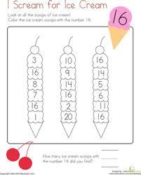 coloring 16 i scream for ice cream worksheet education com