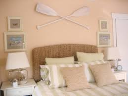 image of beach themed bedroom decor beige colors and sea inspired