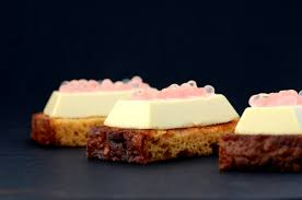 recette cuisine moleculaire panna cotta de foie gras et sphères de cranberries et de vin