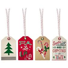 icons and lettering christmas gift tags pack of 12 seals and