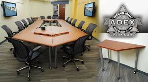 Boardroom Table Power And Data Modules Trapeza Collaborative Learning Student Desks Offered By Smartdesks