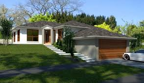 sle house floor plans sloping land 4 bedroom 2 living areas garage house plans
