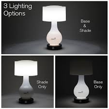 ivation 6 led battery operated motion sensing table lamp multi