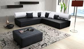 canapé angle noir tetrys canapé d angle réversible noir blanc degriffmeubles