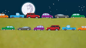 cartoon car png cartoon cars driving on road in both directions at night motion