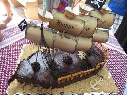 pirate ship cake pirate ship cake at bakergoddess