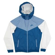 nike windbreaker nike windrunner jacket industrial blue work blue white mens