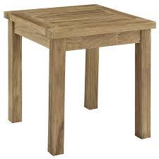 Teak Side Table Modway Marina Teak Wood Outdoor Patio Side Table In