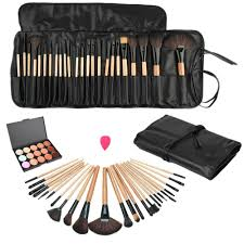 pro 24pcs makeup brushes set kits and 15 colors concealer palette
