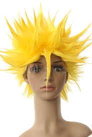 Super Saiyan Costume Halloween 40cm Yellow Dragon Ball Vegeta Super Saiyan Nylon Cosplay Wig
