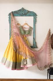 Pink Colour Combination Dresses by Best 25 Yellow Lehenga Ideas On Pinterest Indian Lehenga