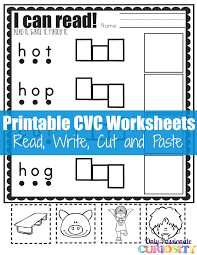 cvc worksheets cut and paste letter o u2013 only passionate curiosity