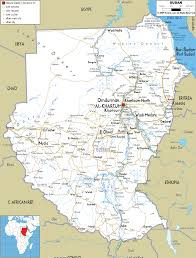 Interactive Map Of Africa by Detailed Clear Large Road Map Of Sudan Ezilon Maps