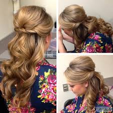 half up half down evening hairstyle found on www thepinkloulou