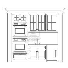Kitchen Cabinet Design Drawing Kitchen Elevation Line Drawing - Draw kitchen cabinets