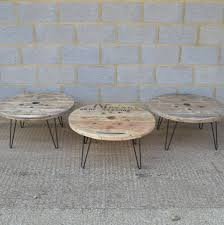 Cable Reel Table by Cable Reel Coffee Table With Hairpin Legs Cable Reel Hairpin