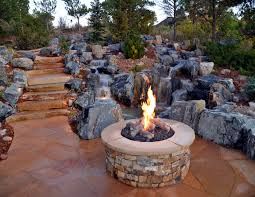 sweet fire pit from landscape block for backyard landscaping