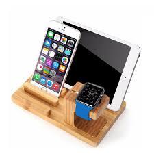 support de bureau pour smartphone réel bois de bambou support de bureau pour tablet support