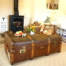 steamer trunk side table old trunks as coffee tables antique trunk rustic square trunk coffee