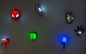 3d deco superhero wall lights 3d deco superhero led wall lights mr cool things