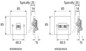 mk electric k3521whi logic plus white moulded single isolated tv