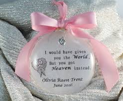 infant loss christmas ornaments in memory infant loss christmas ornament memorial