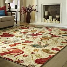 Living Room With Area Rug - andover mills virginia beige red area rug u0026 reviews wayfair