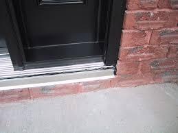Replacing An Exterior Door Threshold Terrific Replacing Exterior Door Sill Plate Contemporary Ideas
