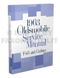1963 oldsmobile repair shop manual original