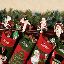 Metal Father Christmas Decorations by Checking It Twice Santa Stocking Holder Set