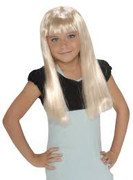 amazon com child u0027s rock star long blonde wig toys u0026 games