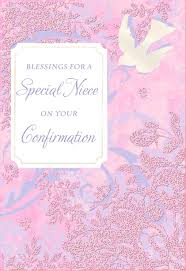 Confirmation Invitation Cards Blessings For A Special Niece Dove Confirmation Card Greeting