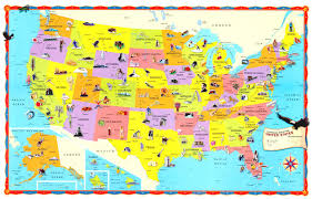 map of the united states picture the children s united states us usa wall map 32x50