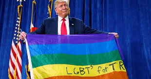 Hanging Flag Upside Down Why Donald Trump Unfurled An Upside Down Rainbow Flag Onstage