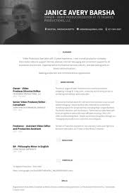 modern resume template free documentary video owner video producer director editor resume exle work