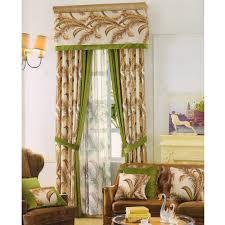 velvet window curtains splice printed patterns