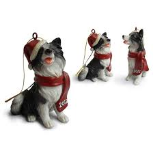 border collie hanging tree ornaments trees